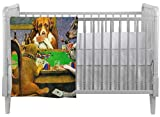 Dogs Playing Poker 1903 C.M.Coolidge Crib Comforter / Quilt