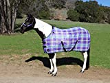 Kensington Signature Draft Protective Fly Sheet — SureFit Cut with Snap Front Chest Closure — Made of Grooming Mesh This Sheet Offers Maximum Protection Year Round, Size 90, Lavender Mint Plaid