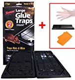 PRODUCT: Tomcat Large Glue 2 Pack Traps for Mice, Rat, and Insects- Non-Toxic, Disposable, Indoor and Outdoor Use. DIRECTION FOR USE: 1) Carefully separate Real Kill Glue Traps. 2) place glue side up on floors along walls lengthwise or where ...
