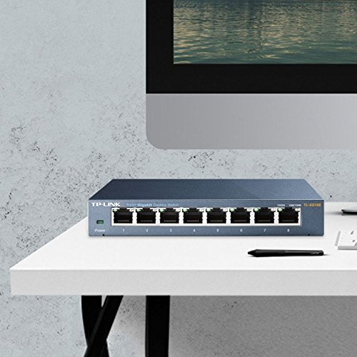 TP-Link 8-Port Gigabit Ethernet Network Switch | Sturdy Metal w/ Sheilded Ports | Limited Lifetime Replacement | Unmanaged (TL-SG108)