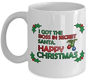 Secret santa christmas boss funny office joke gift mug kitchen home - Secret santa gifts office ...