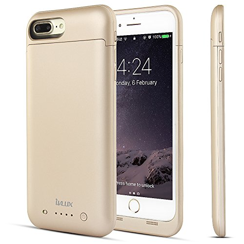 iPhone 7 Plus Battery Case Charger (Lightning Cable Input Mode), i.VALUX 7000mAh Extended Rechargeable Battery Pack Juice External Portable Backup Power Bank for 5.5