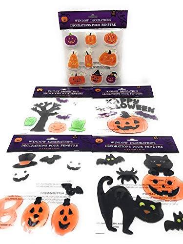 Halloween Ghost Bat Pumpkin Sticker Window Gel Clings