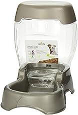 PETMATE Pet Cafe Feeder - 3 lbs, Plateado Perlado, 3 pounds