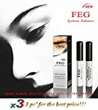 3 X BEST Eyebrow Growth Product Most Effective Growth Serum to LENGTHEN & THICKEN Eyebrows; FEG is a Powerful Stimulator, that Prevents Thinning & Breakage;100% Original with Anti-Fake sticker!!!