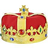 Skeleteen Regal Gold King Crown - Royal Red Felt