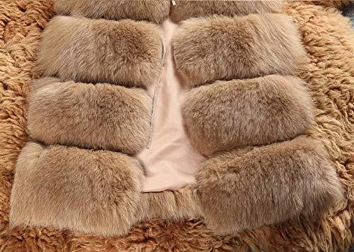 Gilet Hiver Grande Manche Vest Art Épaisseur Manches Elégante Coat Warm Clothing Femme Fourrure Manteau Kamel Vintage Fashion Uni Taille De Sans AFwqABr1