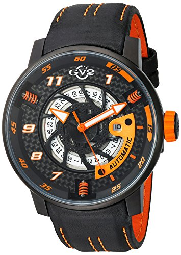 GV2-by-Gevril-Mens-Motorcycle-Sport-Automatic-Stainless-Steel-and-Leather-Casual-Watch-ColorBlack-Model-1304