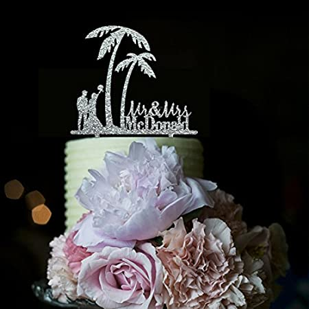 51lQPE05VsL._SS450_ The Best Palm Tree Wedding Cake Toppers