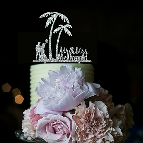 51lQPE05VsL The Best Palm Tree Wedding Cake Toppers