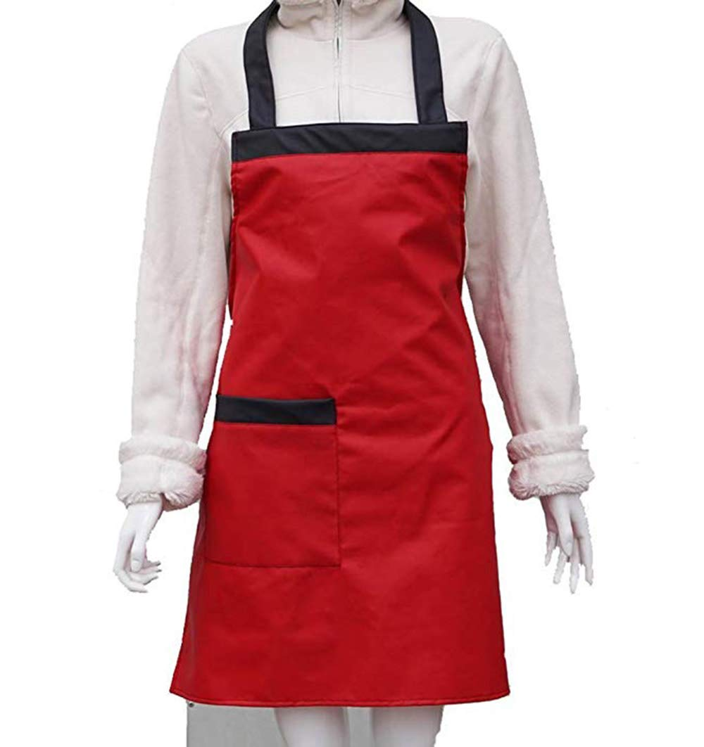 Bib Waterproof Apron Upgraded 2020 Heavy Duty Model - Best for Staying Dry When Dishwashing, Lab Work, Butcher, Dog Grooming, Cleaning Fish, Projects - Industrial Chemical Resistant Plastic