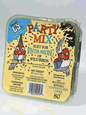 C & S Products Party Mix Suet Beef Suet,Peanuts,Raisins 11 ()