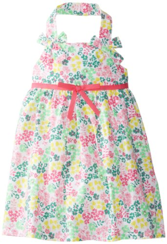 Blueberi Boulevard Cotton Sundress - Blueberi Boulevard Little Girls' Floral Print Halter Sundress, Multi, 2T
