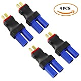 Fly RC T-Plug Deans Male to EC5 Female Connector No Wires RC LiPo Battery Connectors(4PCS)