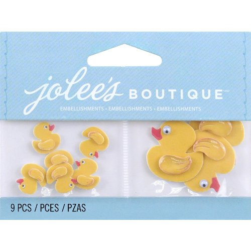 Jolee's Boutique 50-00474 Scrapbooking Embellishment, Mini Rubber Duckies ()