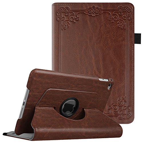 Fintie iPad Mini 4 Case - 360 Degree Rotating Stand Case with Smart Cover Auto Sleep/Wake Feature for Apple iPad Mini 4 (2015 Release), Vintage Antique Bronze