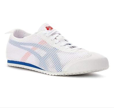 hot sale online da49b 19ad4 Men's Onitsuka Tiger Mexico 66 Mesh Sneaker's White Red (UK ...