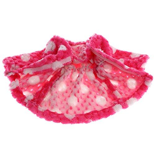 Pour Bleu American Dolls Ornement 18 Coton De Girl Rouge En Pouces Peluche Costume Manteau Poupée Sharplace Rose wqAc6f8S