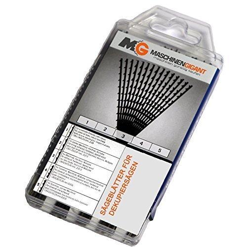 Dekupiersägeblätter Sägeblätter im 60 teiligem Set - passend für alle Maschinen