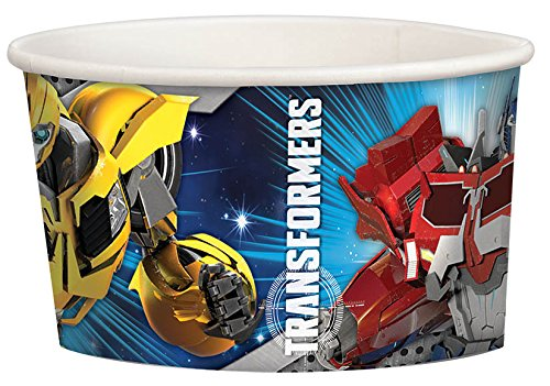 Transformers 9.5oz Paper Treat Cups (9 Ounce Transformers Cups)