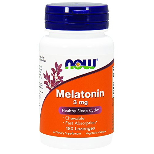 NOW Melatonin 3 mg,180 Lozenges