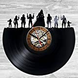 Star Wars Characters Favorite Wall Clock Decor Vintage Black Vinyl Gift Room Wedding Party Review