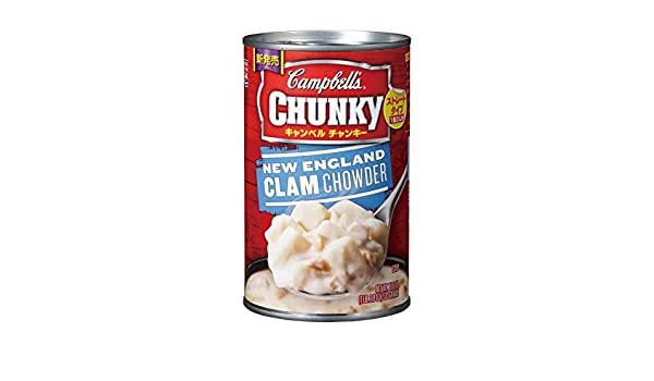Amazon.com : Campbells Chunky New England Clam Chowder 18.8 oz (Pack of 12) : Grocery & Gourmet Food