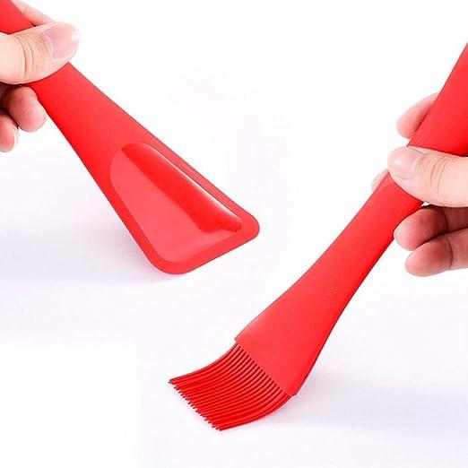 FOONEE - Cepillo de Silicona Resistente al Calor para repostería de Doble Cabeza: Amazon.es: Hogar