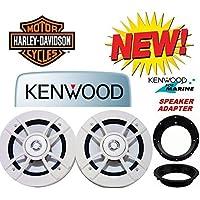 98-2013 Kenwood Marine Harley Touring Speaker Package with Adapter Rings