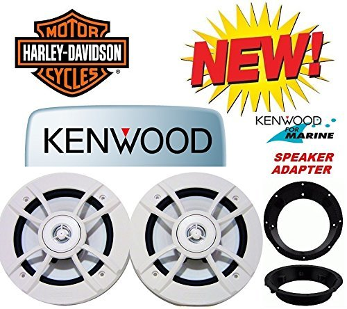 98-2013 Kenwood Marine Harley Touring Speaker Package with Adapter Rings