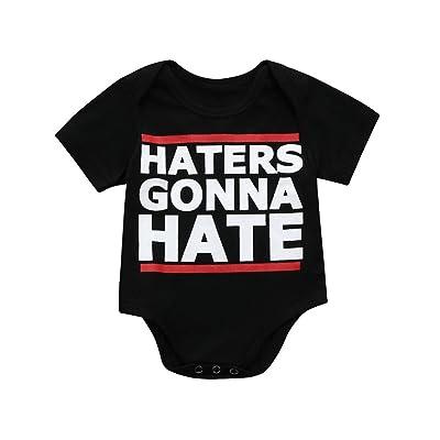 Winsummer Newborn Baby Girl Short Sleeve Letter Romper Bodysuit Tops Outfits Playsuit