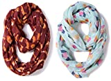 Lightweight Infinity Scarf Heart Painting for Girls Boys by A Sund (heart4)