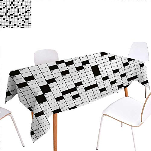 familytaste Word Search Puzzle Washable Tablecloth Classical Crossword