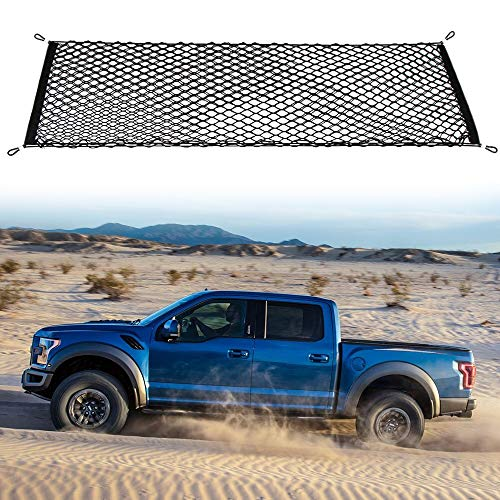 Thie2e Cargo Net Stretchable Truck Net for Ford F150 F-150 2015 2016 2017 2018 2019