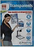 Transparents pour dossiers et rétroprojecteurs - Lot de 20 feuilles A4