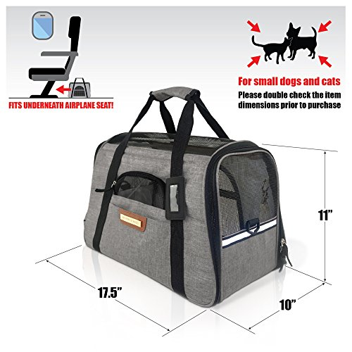 Free Shipping Premium Pet Travel Carrier Airline Approved