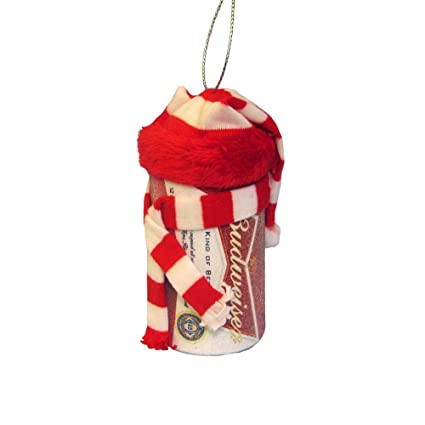 Kurt Adler Budweiser Beer Can With Scarf Christmas Ornament - Amazon.com: Kurt Adler Budweiser Beer Can With Scarf Christmas