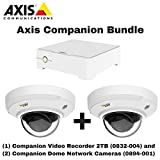 Axis Companion Bundle - 0832-004 Video Recorder 2TB + (2) 0894-001 Dome Cameras