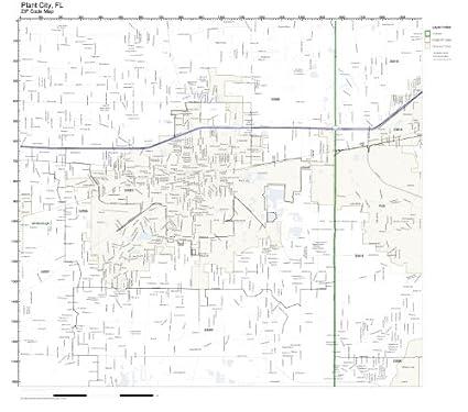 Plant City Florida Map.Amazon Com Zip Code Wall Map Of Plant City Fl Zip Code Map Not