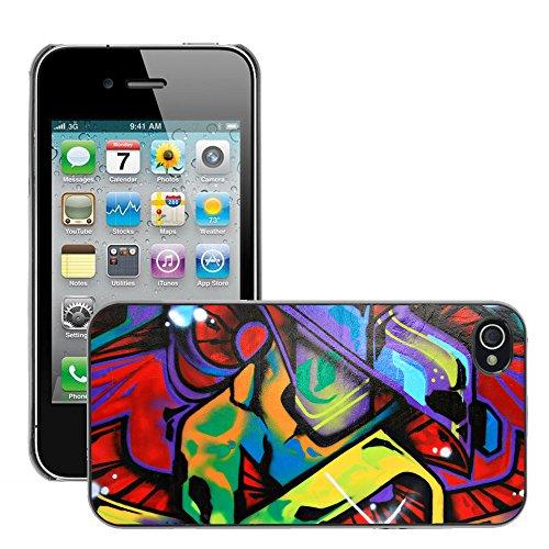 Premio Sottile Slim Cassa Custodia Case Cover Shell // V00002380 Graffiti // Apple iPhone 4 4S 4G