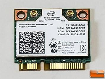 Amazon.com: 8tf1d – Tarjeta WiFi Intel vPro 7260 Mini PCI-E ...