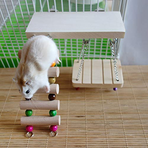 Bird Toys - Mouse Parrot Birds Shelf Hamster Playground Wooden Ladder Swing Bridge Cage Set Pets Toys 99 - Galactic Foraging Parrot Bundle Medium Wood Ball Grey Coconut Clips Dollar Mirror Natur