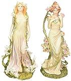 Design Toscano Spirit of Spring Flower Twins Fleurs du Printemps and Fleur d'Ete Statue