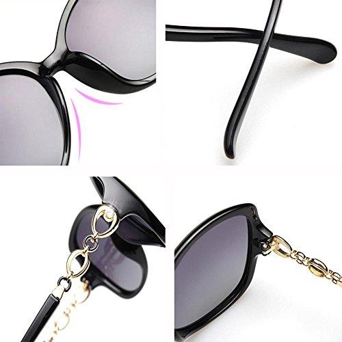 Redonda Circón Gafas Sol Cara Color Anti Retro H J Luz WX Hembra Gafas Fortalecimiento xin Polarizada De Personalidad UV Brillante 6zvwO