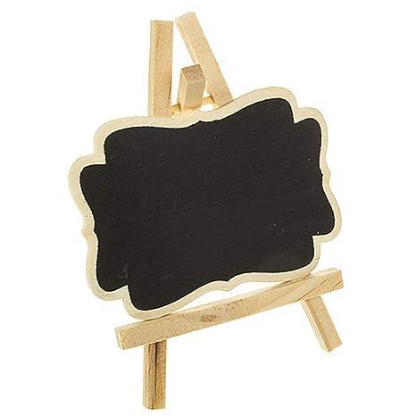 10 pizarras pequeñas, pizarras con soportes, tarjeta de ...