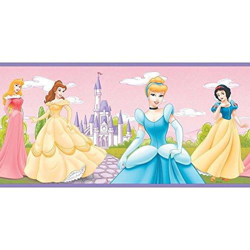 Imperial Disney Home para siempre una princesa frontera, 10.25-inch de ancho, Rosado