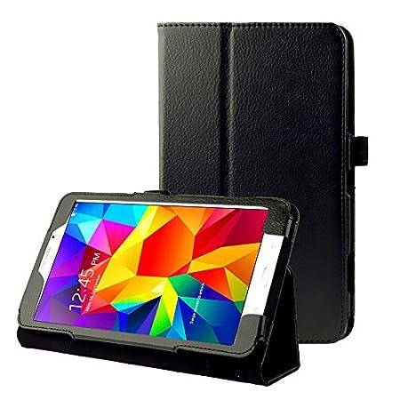 subtel® Smart Case kompatibel mit Samsung Galaxy Tab 4 7.0 (SM-T230 / SM-T231 / SM-T235) Kunstleder Schutzhülle Tasche Flip C