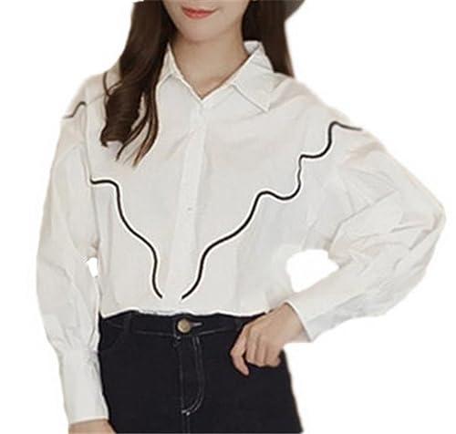 AILIENT Camisa Mujer Camisetas De Manga Larga Blusa De Elegante Casual Oversize T Shirt Rayas Tunica...