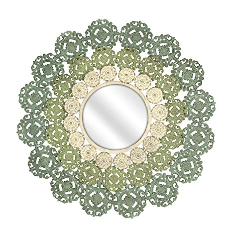 IMAX 74313 Mcguire Medallion Mirror, Ornate Wall Mirror