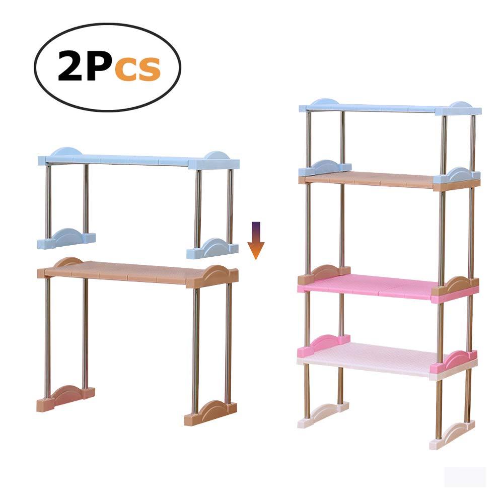 Sotto lavello regolabile impilabile a 2ripiani Storage rack cucina o dispensa organizzazione Heavy Duty in colori casuali, s CYT